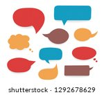 set of colored hand drawn... | Shutterstock .eps vector #1292678629