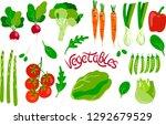 vector vegetable collection set ... | Shutterstock .eps vector #1292679529