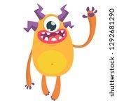 funny cyclops monster. cartoon... | Shutterstock .eps vector #1292681290