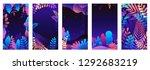 vector set of abstract... | Shutterstock .eps vector #1292683219