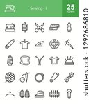 sewing line icons | Shutterstock .eps vector #1292686810