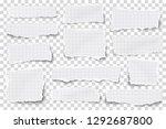 set of checkered paper... | Shutterstock .eps vector #1292687800