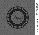 electrocardiogram icon inside... | Shutterstock .eps vector #1292689783