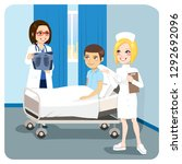doctor explaining x ray... | Shutterstock .eps vector #1292692096