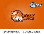 a funny and modern fox inspired ... | Shutterstock .eps vector #1292694286