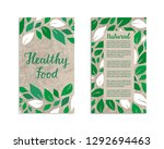 vegetable flyers with salad... | Shutterstock .eps vector #1292694463
