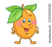 funny smyling apricot in... | Shutterstock .eps vector #1292695330