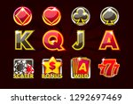 icons of card symbols for slot...