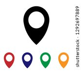 location icon vector | Shutterstock .eps vector #1292697889