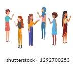 young women standing avatar... | Shutterstock .eps vector #1292700253