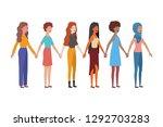 young women standing avatar... | Shutterstock .eps vector #1292703283