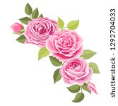 the rose elegant card.... | Shutterstock .eps vector #1292704033