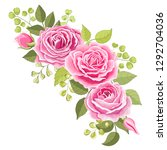 the rose elegant card.... | Shutterstock .eps vector #1292704036