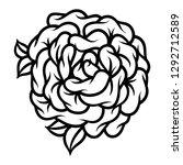 flower rose  black and white.... | Shutterstock .eps vector #1292712589