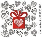 love heart present illustration | Shutterstock . vector #129271988