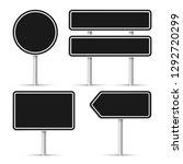 road signs. vector illustration | Shutterstock .eps vector #1292720299