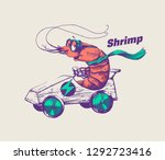 hipster shrimp is riding an... | Shutterstock .eps vector #1292723416