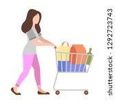 people weekend concept   woman...   Shutterstock .eps vector #1292723743