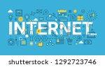 modern flat thin line design...   Shutterstock .eps vector #1292723746