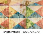decorative pattern with faded... | Shutterstock . vector #1292724670
