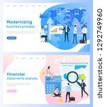 modernizing business process... | Shutterstock .eps vector #1292749960