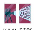 cinema interior element  old...   Shutterstock .eps vector #1292750086