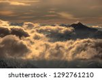 fantastic dreamy sunrise on top ... | Shutterstock . vector #1292761210