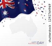 australia day vector banner... | Shutterstock .eps vector #1292764969