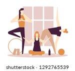 yoga practice   flat design... | Shutterstock .eps vector #1292765539