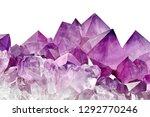 violet crystal stone macro... | Shutterstock . vector #1292770246
