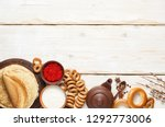a russian tea party including...   Shutterstock . vector #1292773006