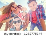 funny portrait of group of... | Shutterstock . vector #1292775349