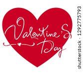valentine's day poster of... | Shutterstock .eps vector #1292775793