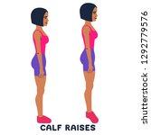 calf raises. sport exersice.... | Shutterstock .eps vector #1292779576