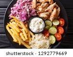 tasty shawarma bowl with... | Shutterstock . vector #1292779669