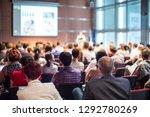 speaker giving a talk in...   Shutterstock . vector #1292780269