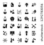 lab testing glyph vector icons  | Shutterstock .eps vector #1292783056
