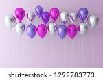 colorful bunch of birthday... | Shutterstock . vector #1292783773