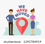 we have moved  changed address... | Shutterstock .eps vector #1292784919