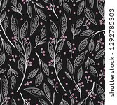 seamless pattern design with... | Shutterstock .eps vector #1292785303