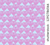 pink hearts on the light blue... | Shutterstock .eps vector #1292786566