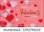 happy valentines day background ... | Shutterstock .eps vector #1292790313