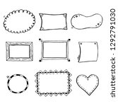 hand drawn set of simple frame... | Shutterstock .eps vector #1292791030