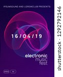 electronic party. minimal... | Shutterstock .eps vector #1292792146