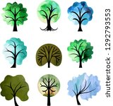 collection of trees in...   Shutterstock .eps vector #1292793553