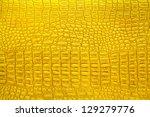 Gold Crocodile Leather  Can Use ...