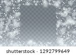 realistic snow background.... | Shutterstock .eps vector #1292799649