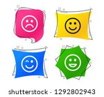 smile icons. happy  sad and...   Shutterstock .eps vector #1292802943