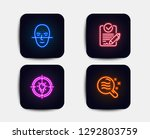 neon glow lights. set of idea ... | Shutterstock .eps vector #1292803759