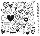 heart doodle  love concept ... | Shutterstock .eps vector #1292810530